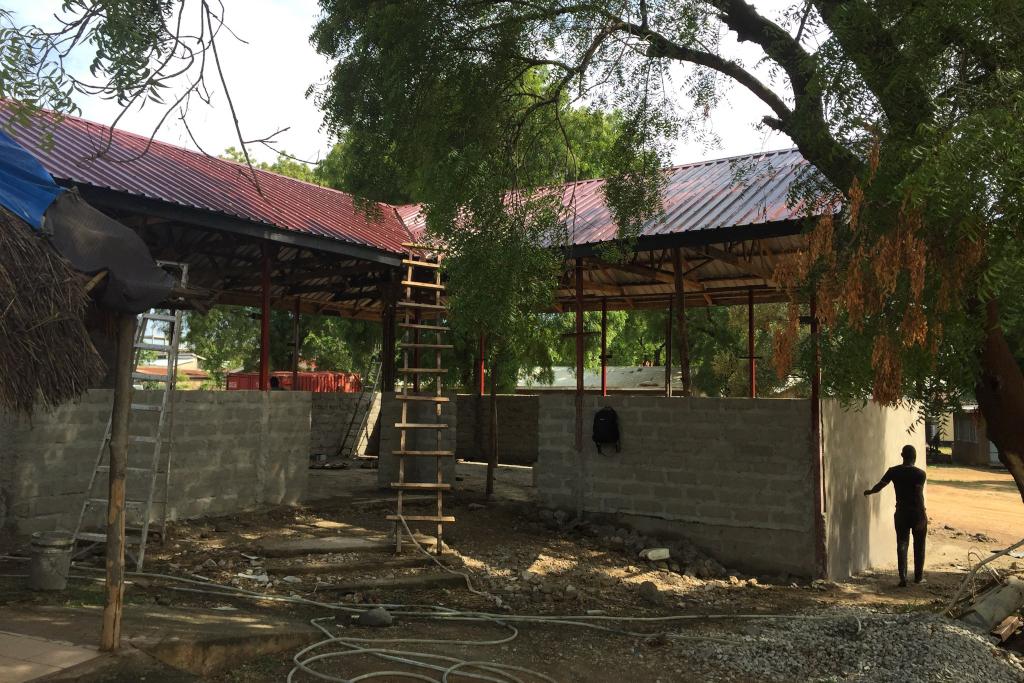Sala d'attesa in costruzione