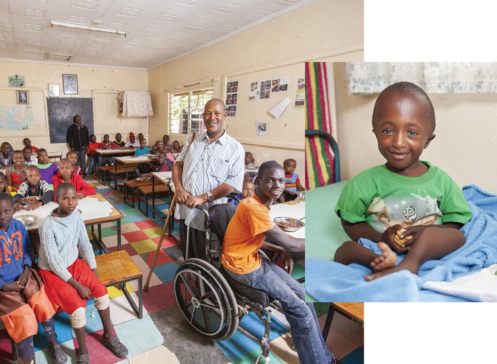 bambino con disabilità fisica