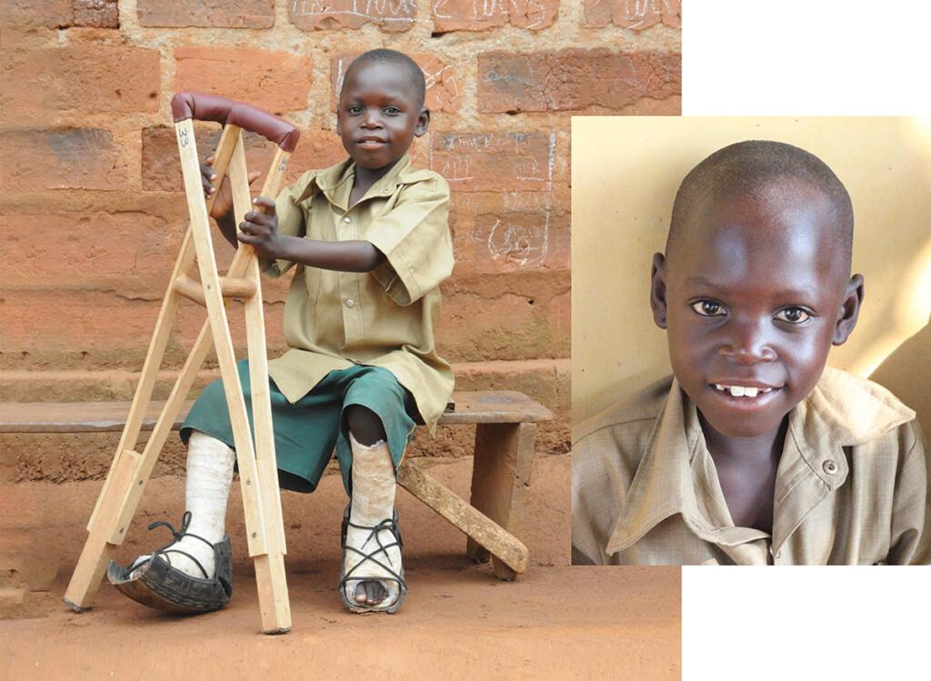 bambino con disabilità con ausilio