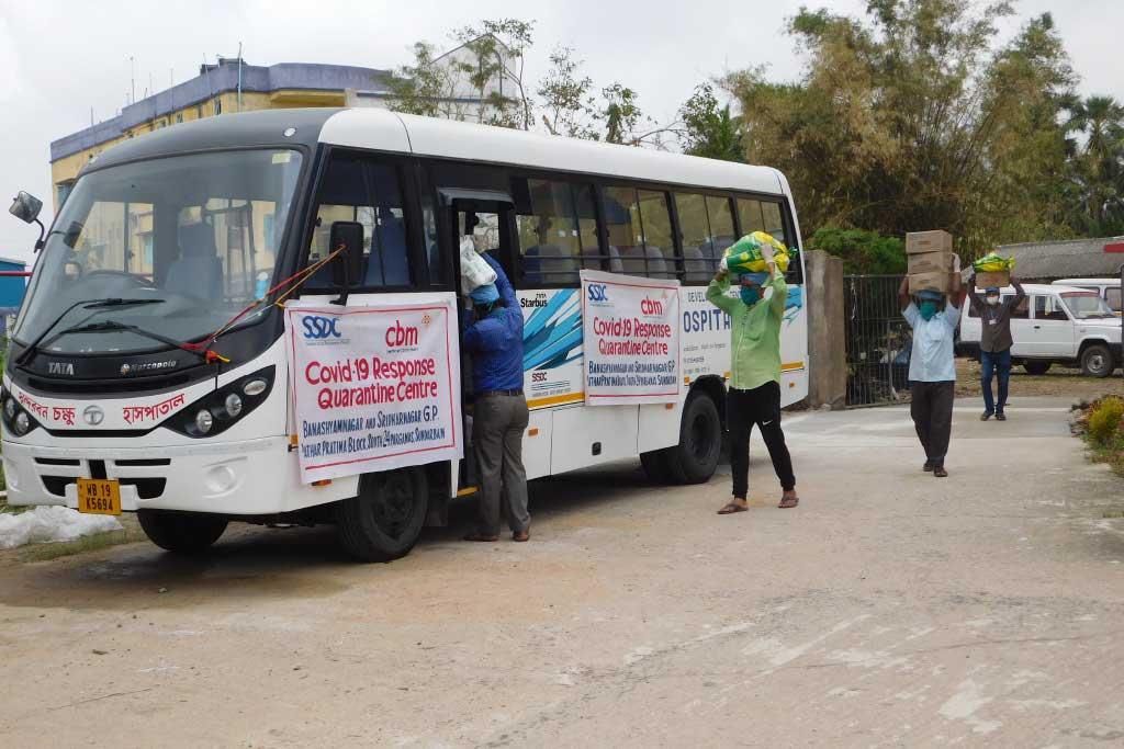 trasporto aiuti in India